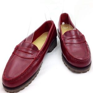 Bass Weejuns Ox Blood Leather Loafers 9